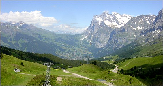 looking toward grindlewald from kleine scheidegg