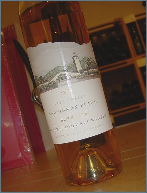 Robert Mondavi's 1999 Napa Valley, Botrytis Sauvignon Blanc