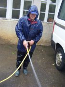 The incredibly enthusiastic Augustin (Tin Tin) from Brittany. Dangerous with yard cleaning hose