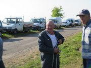 Long/old timers Daniel (camera wrecker from 2008 !) and Dede (wearing same top every year and reputed to have lady friends in many French towns - hardly looks 'the type' ! Selection of the hoard of verge vehicles from that day behind them