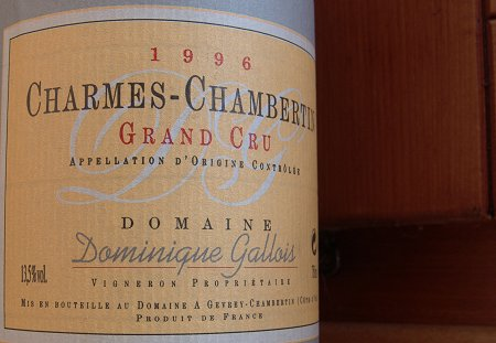 dominique gallois 1996 charmes-chambertin