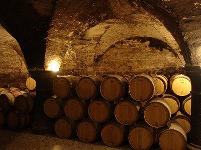 cellar of the manoir de la perriere