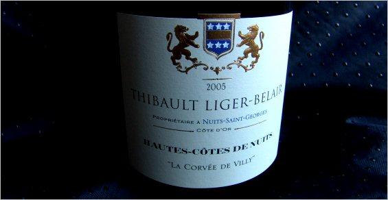 thibault liger belair 2005 hautes cotes de nuits la corvee de villy
