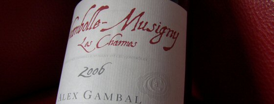 Alex Gambal's 2006 Chambolle-Musigny 1er Les Charmes