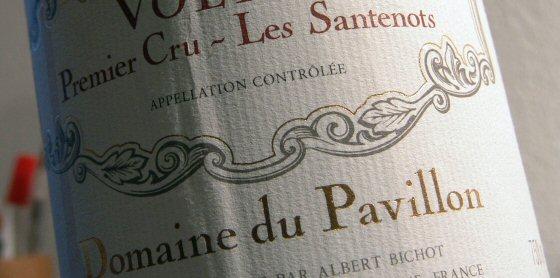 Albert Bichot's Domaine du Pavillon Volnay 1er Santenots