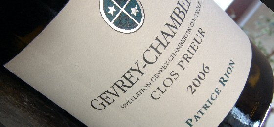 Patrice Rion 2006 Gevery-Chambertin Clos Prieur