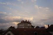 fluffy clouds & autumn colour…