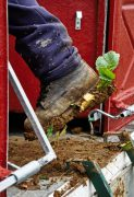 harvesting: exactly how much mud can you get on your boots?